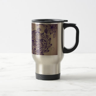 Mandala peacock travel mug