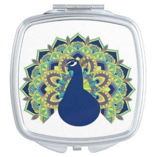 Mandala Peacock Vanity Mirror