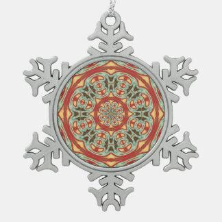 Mandala Pewter Snowflake Ornament