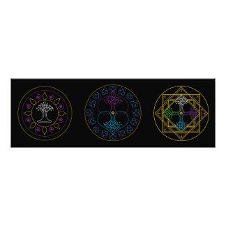 Mandala Print - Trio of Mandalas Photographic Print