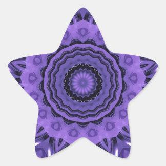 Mandala purple Hearts created by Tutti Star Sticker