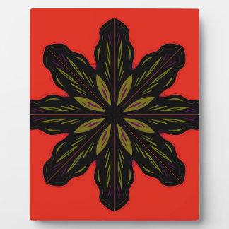Mandala RED BLACK Plaque