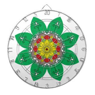 Mandala. Round black and colours oriental pattern. Dartboard