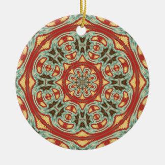 Mandala Round Ceramic Ornament