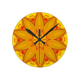 Mandala Round Clock