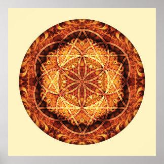 Mandala sacré 3 de la géométrie affiche