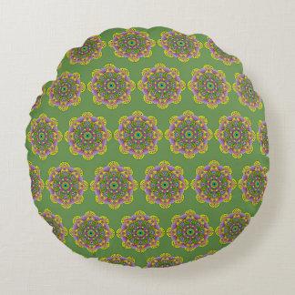 Mandala Satu Round Pillow