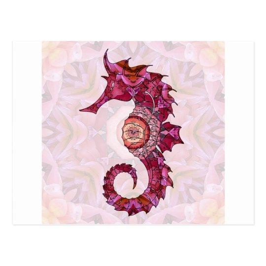 Mandala Seahorse 03 Postcard