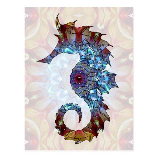 Mandala Seahorse 04 Postcard