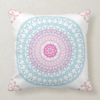 Mandala Seamless Pattern Throw Pillow