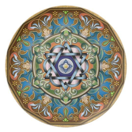 Mandala Shalom Plate