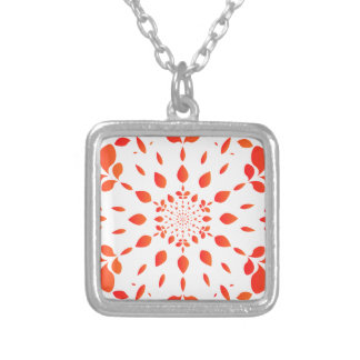 Mandala Silver Plated Necklace