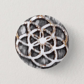 Mandala Sketch 1 Inch Round Button