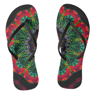 Mandala Slim Straps Flip Flops