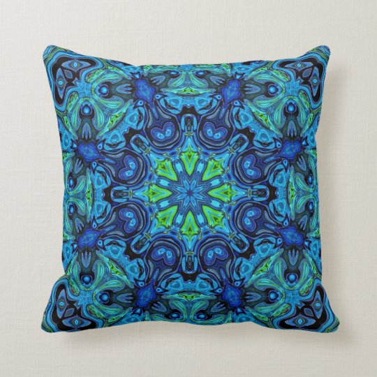 Mandala So Blue 04-21 - Modern Pillows