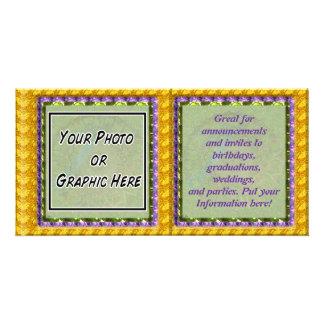 Mandala Spring Gem Photo Greeting Card