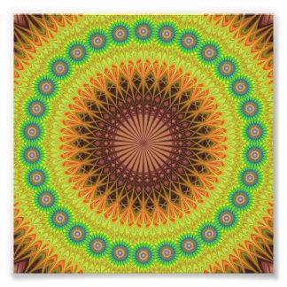 Mandala star circle photo print