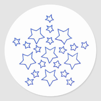 Mandala Star of stars pattern, in blue, stickers