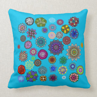 Mandala stitched collection throw pillow