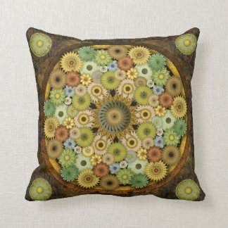 Mandala Stone Flower Decorative Pillow