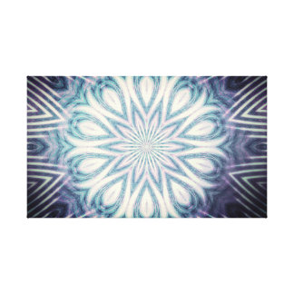 Mandala style flower canvas print