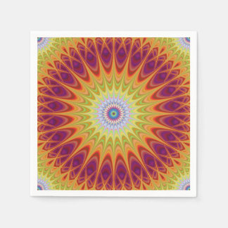 Mandala sun paper napkins