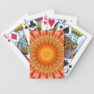 Mandala sunset bicycle playing cards