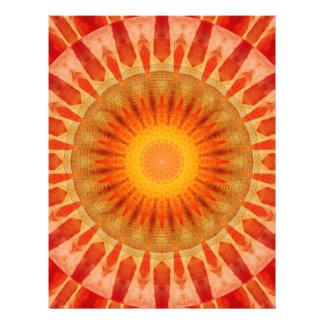 Mandala sunset letterhead