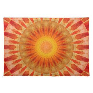 Mandala sunset placemat