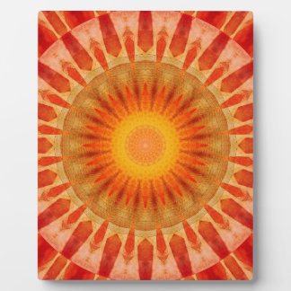 Mandala sunset plaque