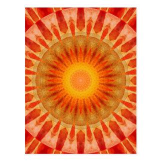 Mandala sunset postcard