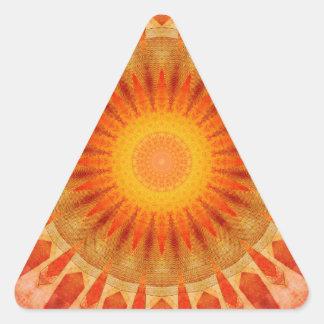 Mandala sunset triangle sticker