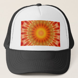 Mandala sunset trucker hat