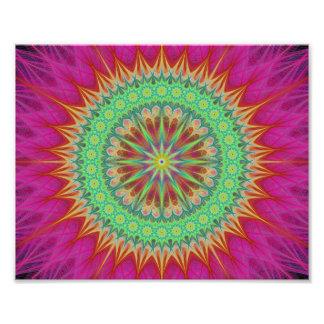 Mandala symbol photo print