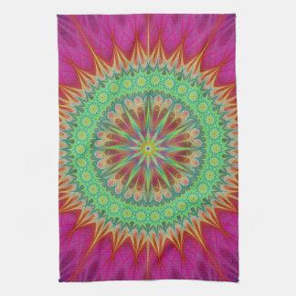 Mandala symbol towels