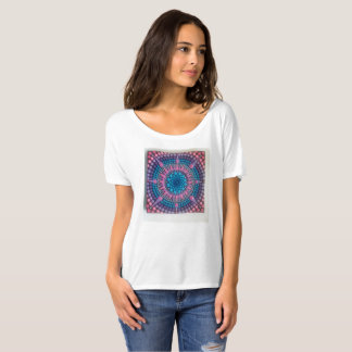 Mandala T shirt, lagenlook boho style draped top
