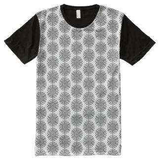 Mandala Tiga Abu Abu All-Over-Print T-Shirt