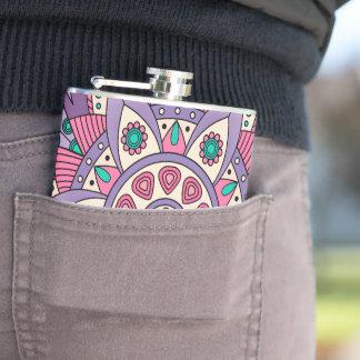 Mandala Tiga Original Purple Hip Flask