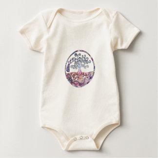 Mandala - Tree of Life in Paradise Baby Bodysuit