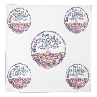 Mandala - Tree of Life in Paradise Duvet Cover