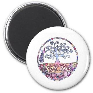 Mandala - Tree of Life in Paradise Magnet