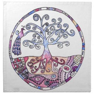 Mandala - Tree of Life in Paradise Napkin