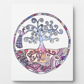 Mandala - Tree of Life in Paradise Plaque