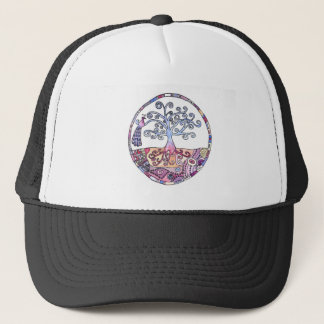 Mandala - Tree of Life in Paradise Trucker Hat