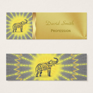 Mandala Tribal Elefant Mini Business Card