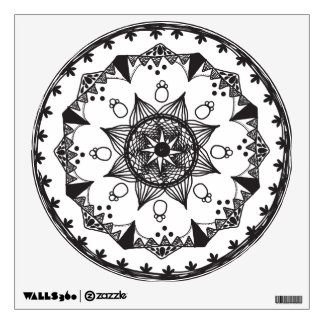 Mandala wall decal, mandala wall cling dorm decor wall decal