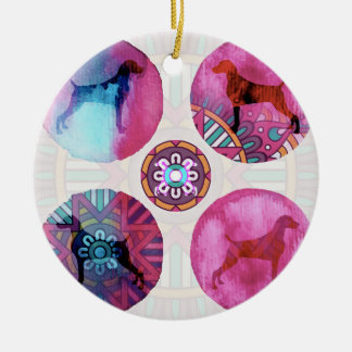 MANDALA WEIM DREAM PINK MULTI CERAMIC ORNAMENT