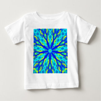 Mandala With Blue Aqua And Yellow Baby T-Shirt