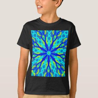Mandala With Blue Aqua And Yellow T-Shirt