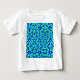 Mandala With Blue Aqua And Yellow - Tiled Baby T-Shirt